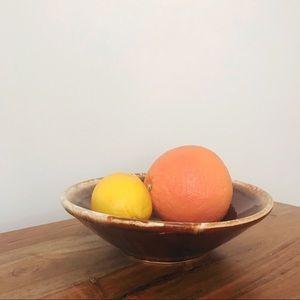 Vintage Kitchen - Vintage • Glazed Stoneware Serving Bowl